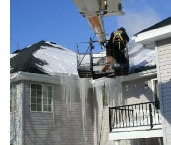 Snow and Ice Roof Damage